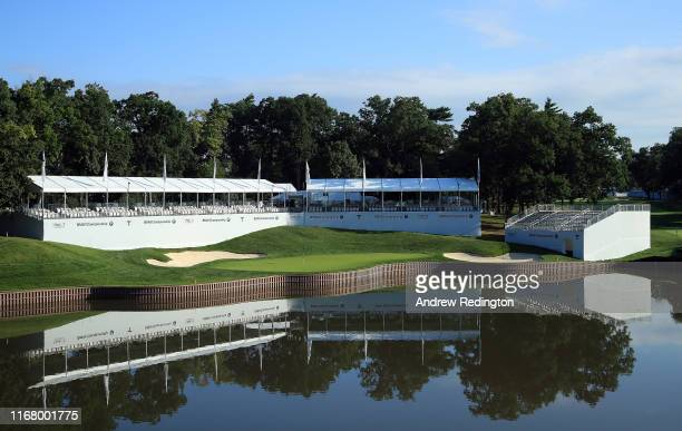 General view of the 17th hole during practice for the BMW Championship at Medinah Country Club on August 13, 2019 in Medinah, Illinois.