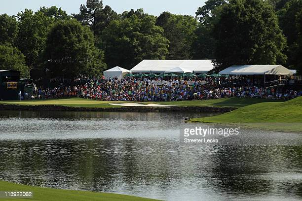 General view of the 17th hole during the final round of the Wells Fargo Championship at Quail Hollow Club on May 8, 2011 in Charlotte, North Carolina.