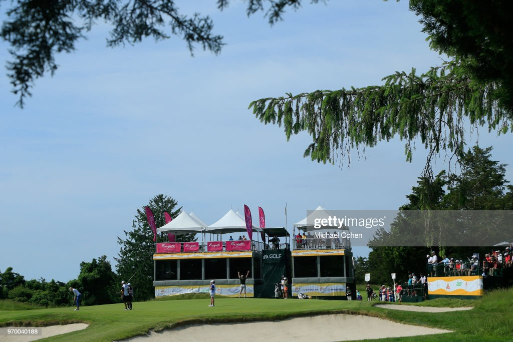 A general view of the 17th hole during the first round of the ShopRite LPGA Classic Presented by Acer on the Bay Course at Stockton Seaview Hotel and Golf Club on June 8, 2018 in Galloway, New Jersey.