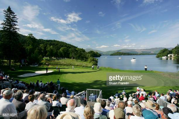 A general view of the 17th hole during the second round of The Barclays Scottish Open at The Loch Lomond Golf Club on July 8 in Loch Lomond Great...