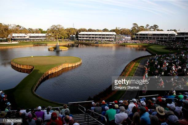 A general view of the 17th hole during the second round of The PLAYERS Championship on The Stadium Course at TPC Sawgrass on March 15 2019 in Ponte...