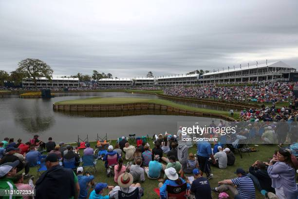 A general view of the 17th hole during the third round of THE PLAYERS Championship on March 16 2019 on the Stadium Course at TPC Sawgrass in Ponte...