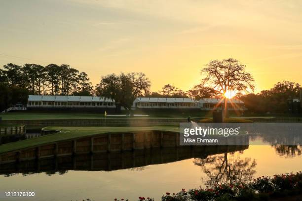 General view of the 17th hole is seen after the cancellation of the The PLAYERS Championship and consecutive PGA Tour events through April 5th,2020...