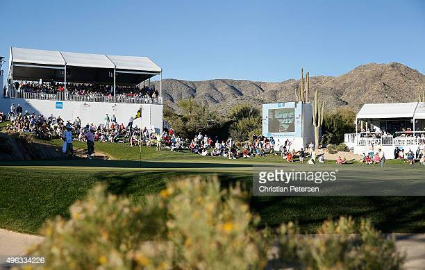 General view of the 18th green as Stephen Ames of Canada chips during the final round of the Charles Schwab Cup Championship on the Cochise Course at...