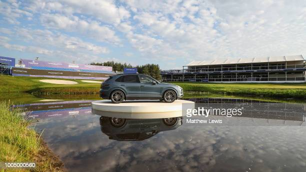 A general view of the 18th green during a practice round ahead of the Porsche European Open at Green Eagle Golf Course on July 25 2018 in Hamburg...