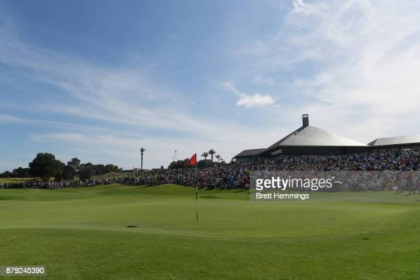 A general view of the 18th green during day four of the 2017 Australian Golf Open at The Australian Golf Club on November 26 2017 in Sydney Australia