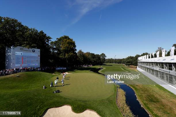 General view of the 18th green during Day Two of the BMW PGA Championship at Wentworth Golf Club on September 20, 2019 in Virginia Water, United...