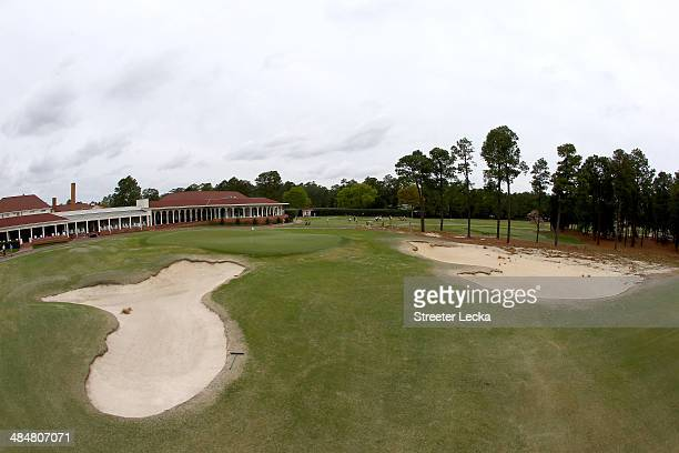 A general view of the 18th green during the 2014 US Open Preview Day at Pinehurst No 2 on April 14 2014 in Pinehurst North Carolina