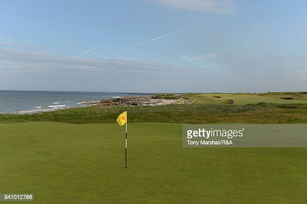 General view of the 18th green during The Amateur Championship 2016 - Day Six at Royal Porthcawl Golf Club on June 18, 2016 in Bridgend, Wales.