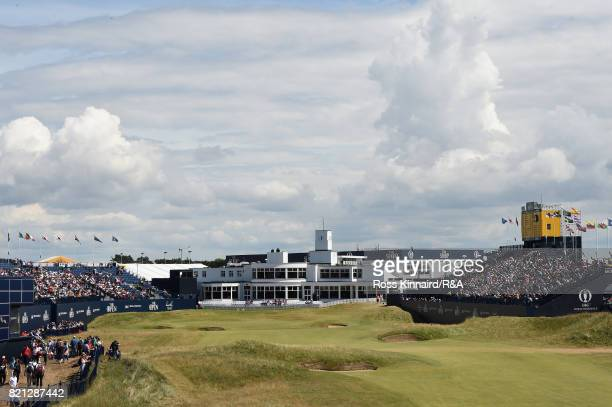 A general view of the 18th green during the final round of the 146th Open Championship at Royal Birkdale on July 23 2017 in Southport England