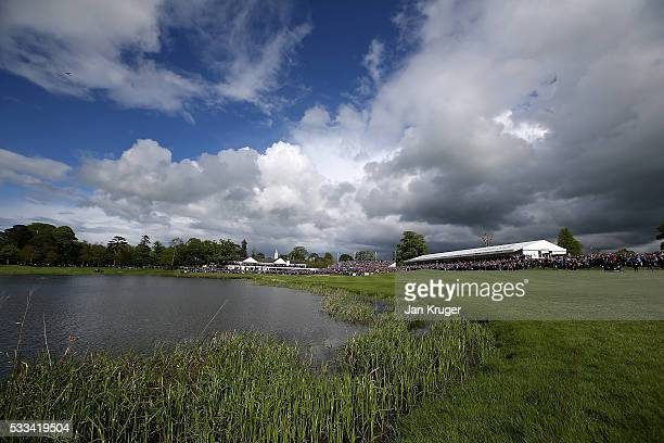General View of the 18th green during the final round of the Dubai Duty Free Irish Open Hosted by the Rory Foundation at The K Club on May 22 2016 in...