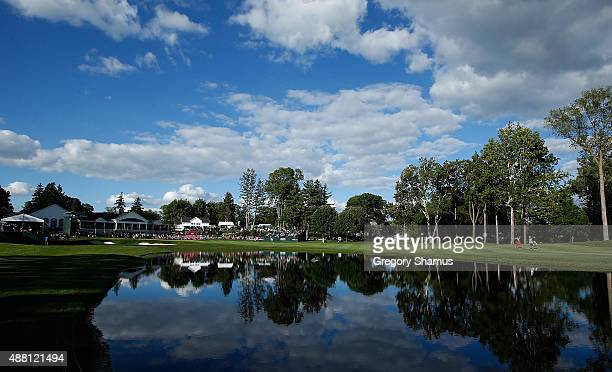 General view of the 18th green during the final round of the Webcom Tour Hotel Fitness Championship at Sycamore Hills Golf Club on September 13 2015...