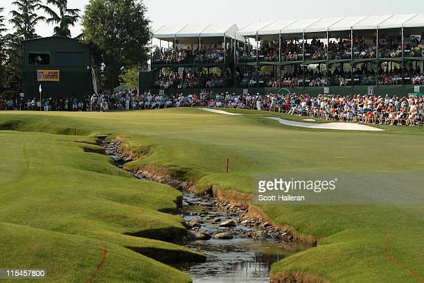 General view of the 18th green during the final round of the Wells Fargo Championship at the Quail Hollow Club on May 8, 2011 in Charlotte, North...