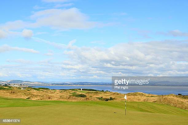 General view of the 18th green during the first round of the SSE Scottish Senior Open played at the Torrance Course, Fairmont St Andrews on August...