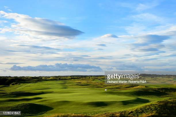 General View of the 18th green during the Quarter Finals on Day Four of The Women's Amateur Championship at The West Lancashire Golf Club on August...