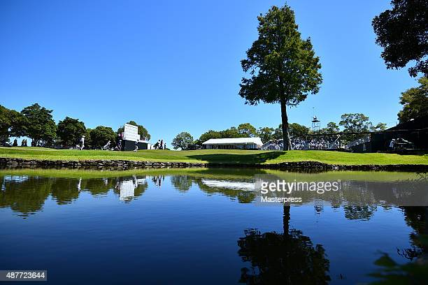 General view of the 18th green during the second round of the 48th LPGA Championship Konica Minolta Cup 2015 at the Passage Kinkai Island Golf Club...