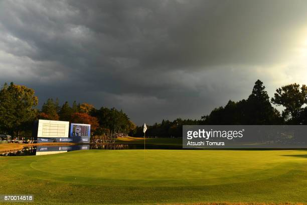 General view of the 18th green during the second round of the TOTO Japan Classics 2017 at the Taiheiyo Club Minori Course on November 4 2017 in...