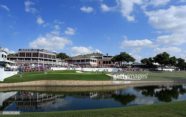 General view of the 18th green during the Third Round of the DEAN & DELUCA Invitational at Colonial Country Club on May 28, 2016 in Fort Worth, Texas.