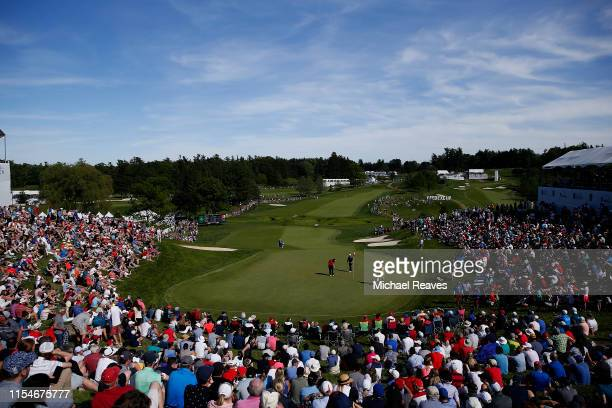 General view of the 18th green during the third round of the RBC Canadian Open at Hamilton Golf and Country Club on June 08, 2019 in Hamilton, Canada.