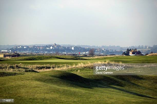 General view of the 18th green with the Town of Rye behind during the 2003 Presidents Putter annual knock out tournament for past Oxford and...