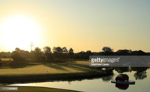 A general view of the 18th hole ahead of Day One of the Porsche European Open at Green Eagle Golf Club on September 05 2019 in Hamburg Germany