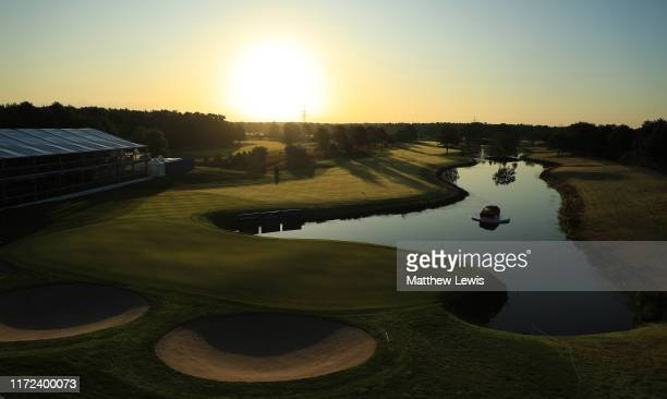 General view of the 18th hole ahead of Day One of the Porsche European Open at Green Eagle Golf Club on September 05, 2019 in Hamburg, Germany.