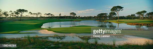 General view of the 18th hole at the Frederica Golf Club on October 20, 2005 in St. Simons Island, Georgia.