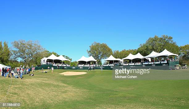 A general view of the 18th hole during the final round of the Chitimacha Louisiana Open presented by NACHER held at Le Triomphe Golf and Country Club...