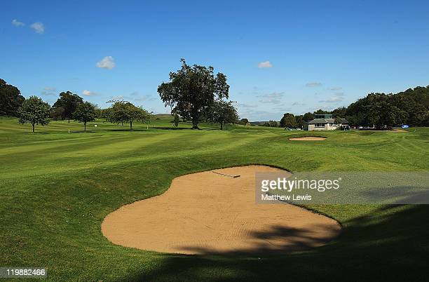 A general view of the 18th hole during the Virgin Atlantic PGA National ProAm Championship Regional Final at Crieff Golf Club on July 26 2011 in...