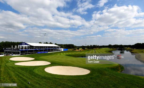 A general view of the 18th hole prior to the Porsche European Open at Green Eagle Golf Courses on September 04 2019 in Hamburg Germany