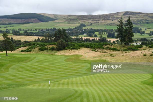 General view of the 18th hole prior to the start of The Solheim Cup at Gleneagles on September 09, 2019 in Auchterarder, Scotland.