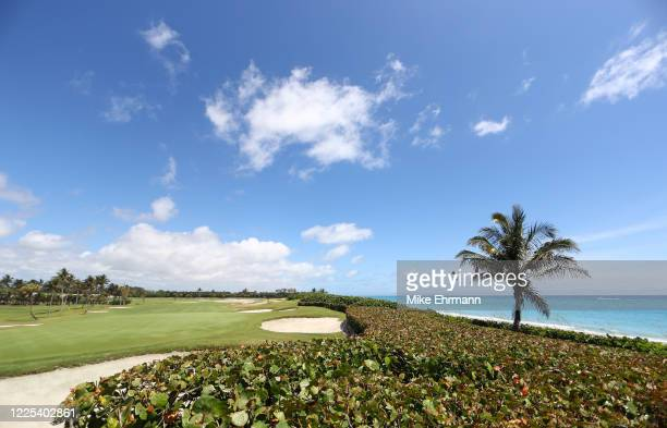 General view of the 18th hole prior to the TaylorMade Driving Relief Supported By UnitedHealth Group on May 17, 2020 at Seminole Golf Club in Juno...