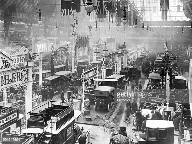 General view of the 1905 Motor Show held in Olympia 24th November 1905