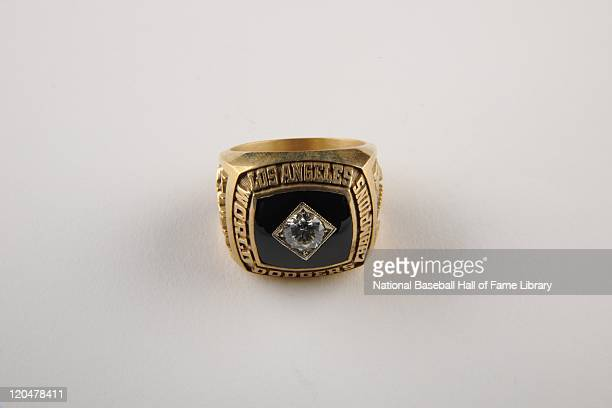 A general view of the 1981 Los Angeles Dodgers World Series Championship Ring circa 1981 in Los Angeles California