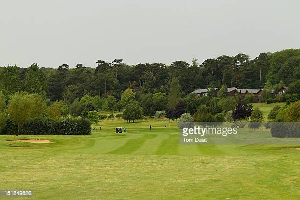 General view of the 1st fairway during the PGA Super 60's Tournament at the De Vere Belton Woods Golf Club on September 12 2012 in Grantham England