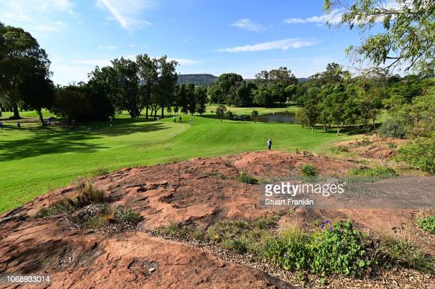 General view of the 1st hole during day one of the South African Open at Randpark Golf Club on December 6, 2018 in Johannesburg, South Africa.