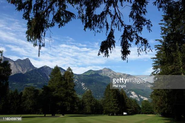 General view of the 1st hole during the second round of the Swiss Seniors Open played at Golf Club Bad Ragaz on July 06, 2019 in Bad Ragaz,...