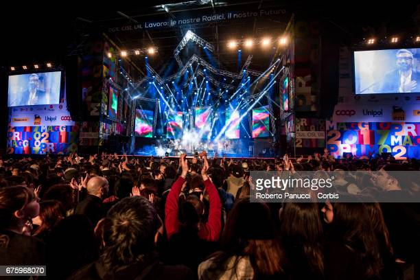 A general view of the 1st Of May Concert on May 01 2017 in Rome Italy