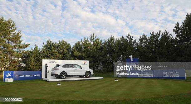 A general view of the 1st tee during a practice round ahead of the Porsche European Open at Green Eagle Golf Course on July 25 2018 in Hamburg Germany
