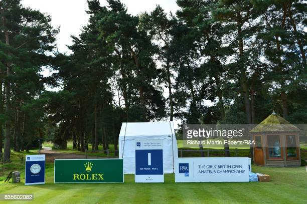 General View of the 1st tee during the Girls' British Open Amateur Championship at Enville Golf Club on August 19 2017 in Stourbridge England