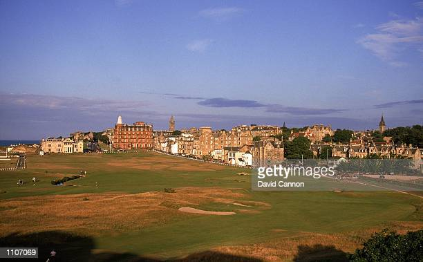 General view of the 1st the 17th Road Hole and the 18th on the Old Course at St Andrews in Fife Scotland Mandatory Credit David Cannon /Allsport