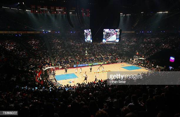 General view of the 2007 NBA All-Star Game February 18, 2007 at the Thomas & Mack Center in Las Vegas, Nevada. NOTE TO USER: User expressly...