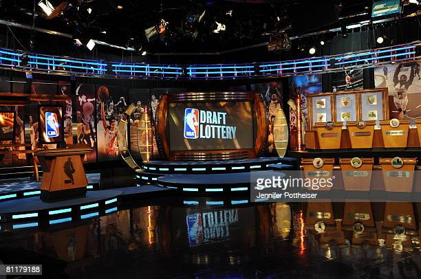 A general view of the 2008 NBA Draft Lottery at the NBATV Studios on May 20 2008 in Secaucus New Jersey NOTE TO USER User expressly acknowledges and...