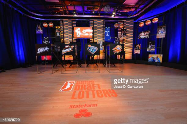 General view of the 2013 WNBA Draft Lottery on December 10 2013 at NBA Entertainment Studios in Secaucus New Jersey NOTE TO USER User expressly...