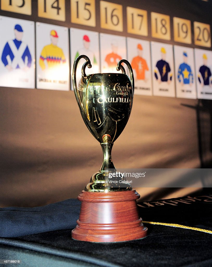 2014 Caulfield Cup trophy during ...