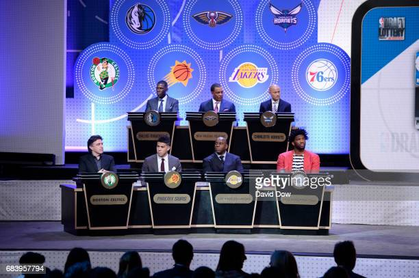 A general view of the 2017 NBA Draft Lottery at the New York Hilton in New York New York NOTE TO USER User expressly acknowledges and agrees that by...