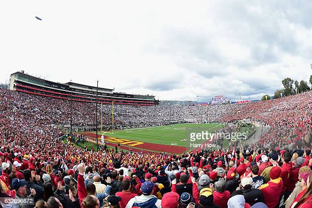 A general view of the 2017 Rose Bowl Game presented by Northwestern Mutual between the USC Trojans and the Penn State Nittany Lions at the Rose Bowl...