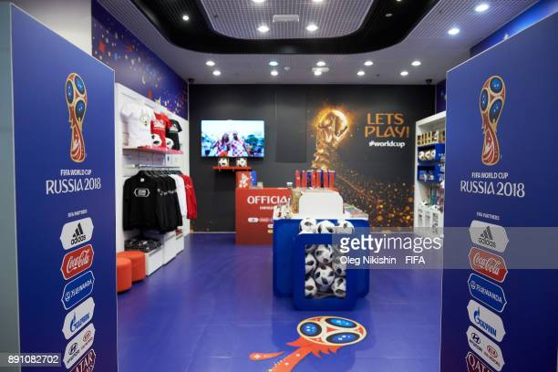 General view of the 2018 FIFA World Cup Russia official store before opening ceremony on December 12 2017 in Moscow Russia