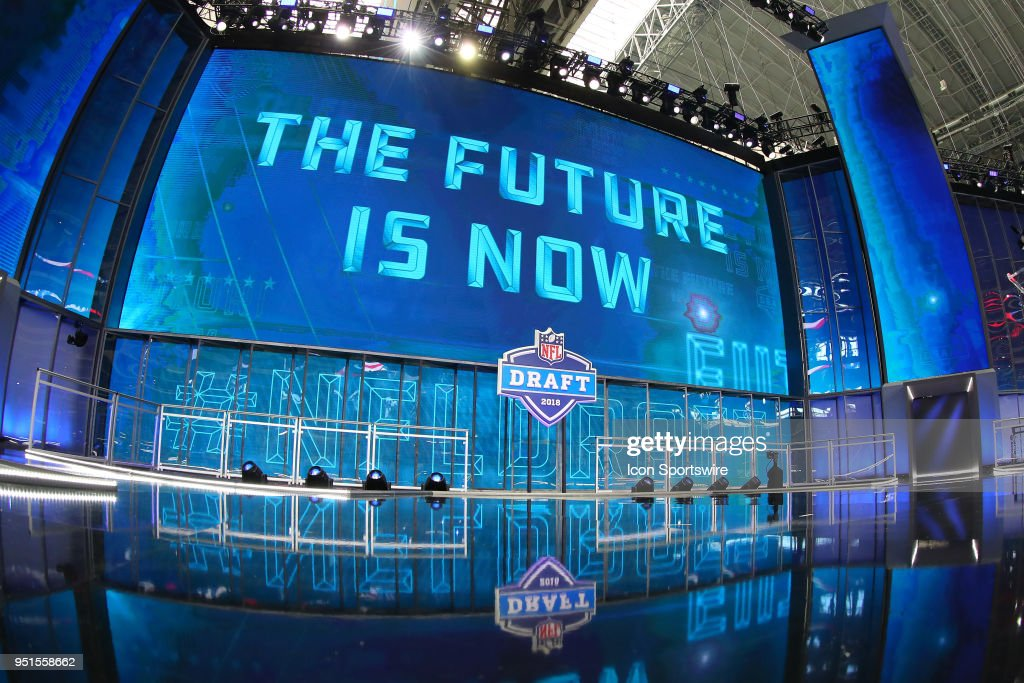 A General View of the 2018 NFL Draft Stage inside AT T Statium prior ... 92a2606b8d5