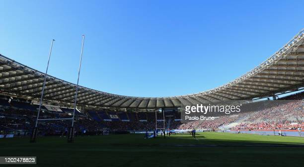 General view of the 2020 Guinness Six Nations match between Italy and Scotland at Stadio Olimpico on February 22, 2020 in Rome, Italy.